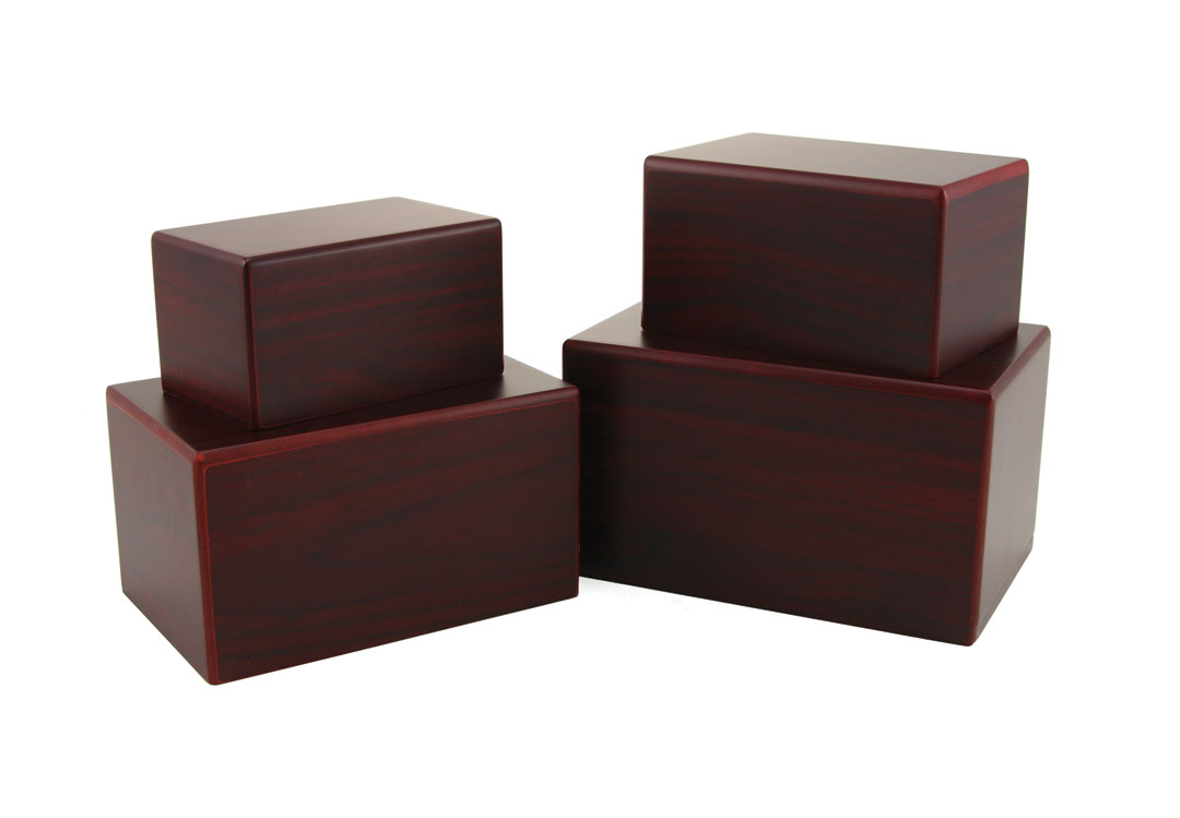 Rectangular Box Urn- Cherry Image
