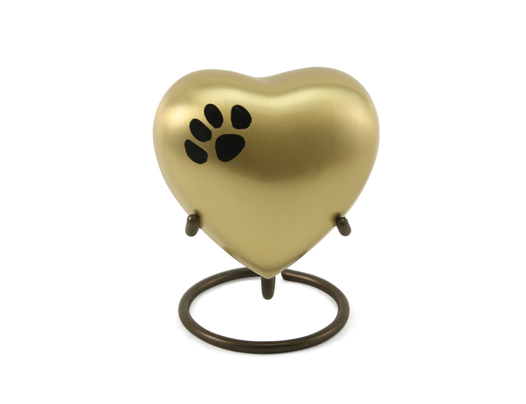 Keepsake Heart - Classic Single Paw Bronze Image